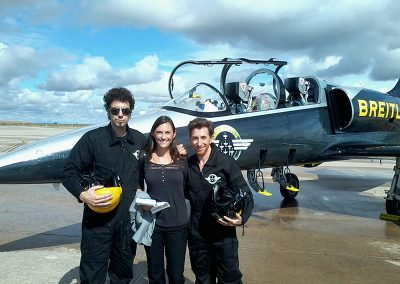 Sometimes you interpret in special circumstances. In this case, consecutive and liaison interpreting for the Breitling Jet Team and the team of Pablo Motos
