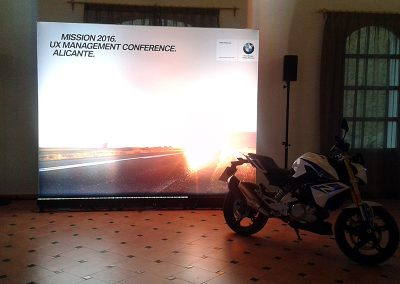 Simultaneous interpreting during a conference for BMW Motorrad