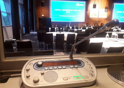 Simultaneous Interpreting at a very interesting conference in Copenhagen for the NGO Transparency International