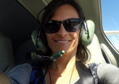 First: interpreting during an ultralight flight over Montserrat and then they even let me take the controls of the plane