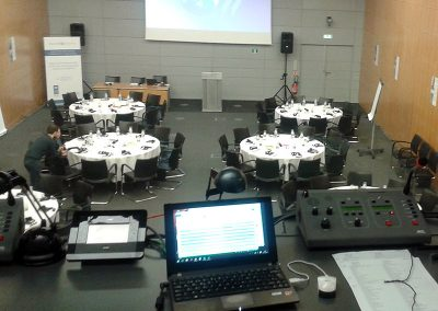 Interpreting at emblematic sites such as the OECD in Paris with luxurious booth (very spacious for 3 interpreters)